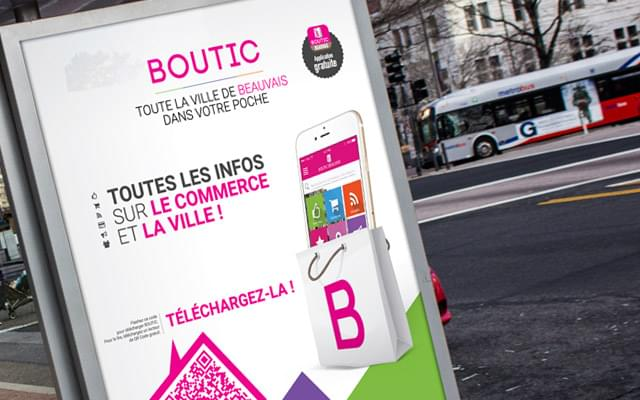 GBF Communication - Campagne Print BOUTIC - Affiche abribus - Flyers - Stickers/Vitrophanie